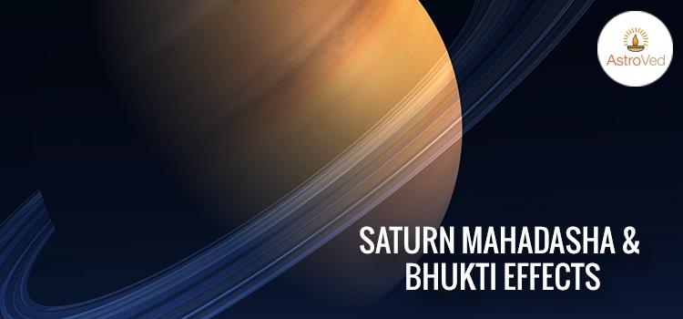 Saturn Mahadasha and Bhukti Effects, Sani Mahadasha and