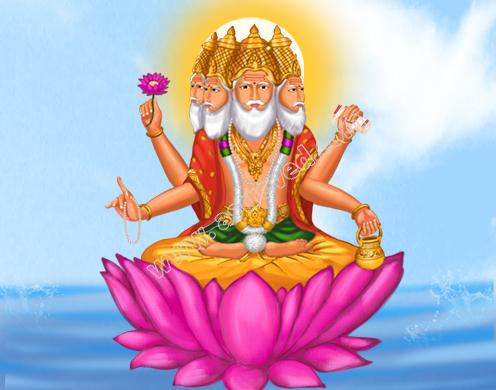 Array - brahma hindu god lord brahma brahma dev creator of god sri      rh   astroved com