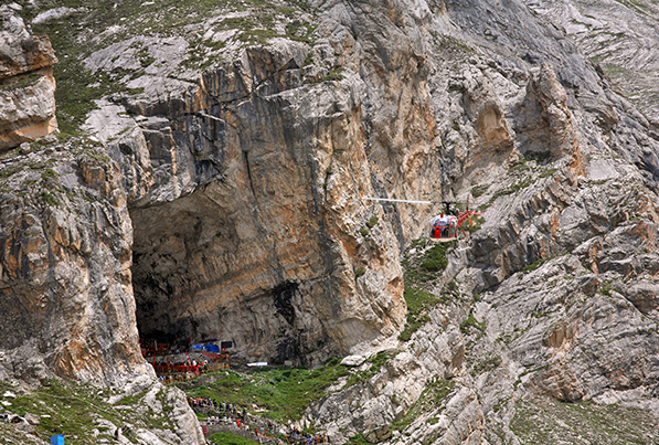 Image result for location of amarnath cave