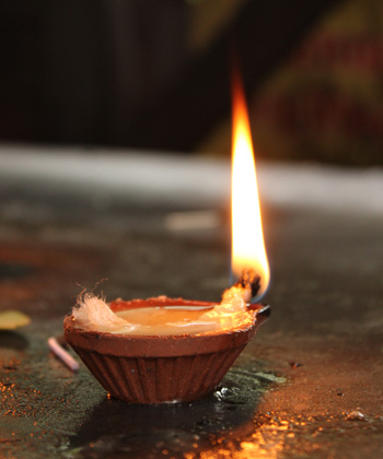 Lighting Lamp with Ghee or Oil or Camphor - AstroVed com