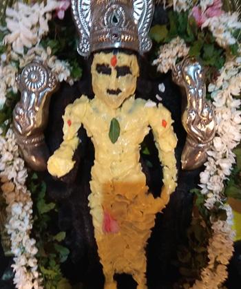 Abishekam: Venna Kappu for Lord Vishnu