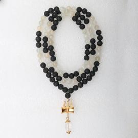 Energized Shakti Mala 108 beads with Trishul Pendant