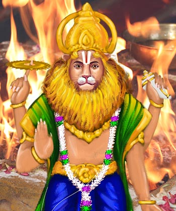Nava Narasimha Homa (9 Divine Forms of Narasimha Blessings Fire Lab)