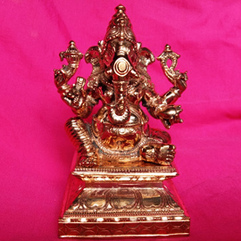 5-Inch 5-Metal Vijaya Ganapati Statue