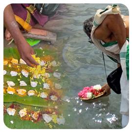 Tarpanam to Ancestors at Rameshwaram