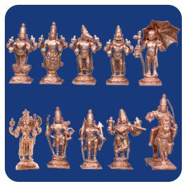 Dasavatharam Statue Set