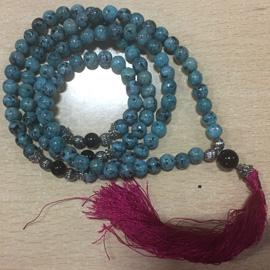 African Blue Jade Mala