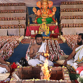 Individual Ganesha Fire Lab on Ganesha Chaturthi