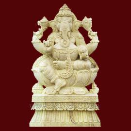 Neem Wood Ganesha Statue