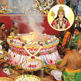 Subramanya Panchadasashari Homa (Muruga Seed Sounds Fire Prayer)