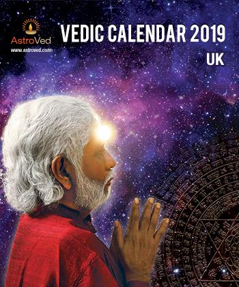 AstroVed 2019 Calendar: UK