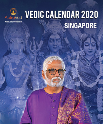 AstroVed 2020 Calendar: SINGAPORE (hard copy)