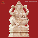 Ganesha Chaturthi 2014: Energized 1 Foot Neem Wood Ganesha