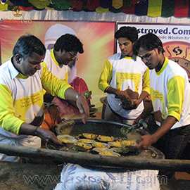 FOOD FEEDING ON KARTHIGAI DEEPAM