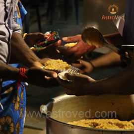 Food Feeding on Guru Purnima