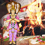 Individual Ketu Homa (fire lab) at AstroVed Remedy