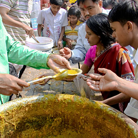 Group Sponsorship For Food Feeding On Chitra Purnima