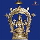 Navratri 2014: 6 Inch Energized 5 Metal Goddess Mookambika Statue