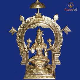 6 Inch Energized 5 Metal Goddess Mookambika Statue