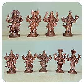 2 inch Navagraha Statue Set