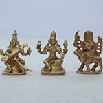 Energized Durga Lakshmi and Saraswati Statues Set