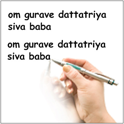 Fix Planet Jupiter - Proxy Mantra Writing of OM GURAVE DATTATRIYA SIVA BABA