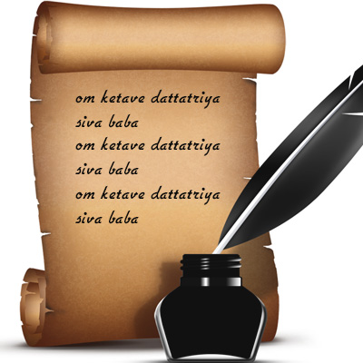 Fix Planet Ketu - Proxy Mantra Writing of OM KETAVE DATTATRIYA SIVA BABA