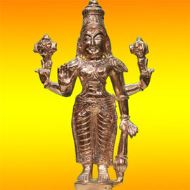 Energized Statue of Standing Vishnu - 6 Inches