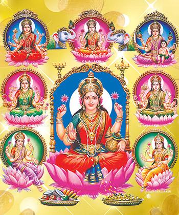 Goddess Ashtalakshmi, Ashta Lakshmi Pooja, Ashta Lakshmi