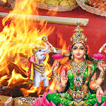 Lakshmi Ashtottaram Chanting and Sri Suktam Homa (Fire Lab for Magnificence and Affluence and Financial Stability)