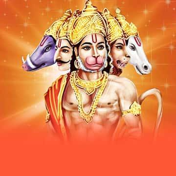 Invoke 5-Faced Hanuman's Help to Control Saturn Afflictions & Sufferings