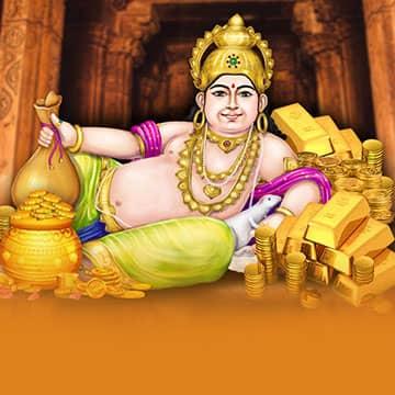Heaven's Banker Kubera Arrives at Dr. Pillai's Temple on Royal Full Moon of Abundance