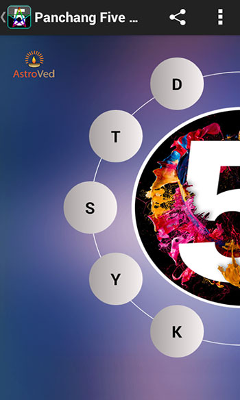Panchang Five Elements