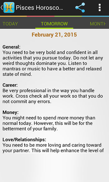 Pisces Horoscopes, Pisces horoscope app for Android, Iphone