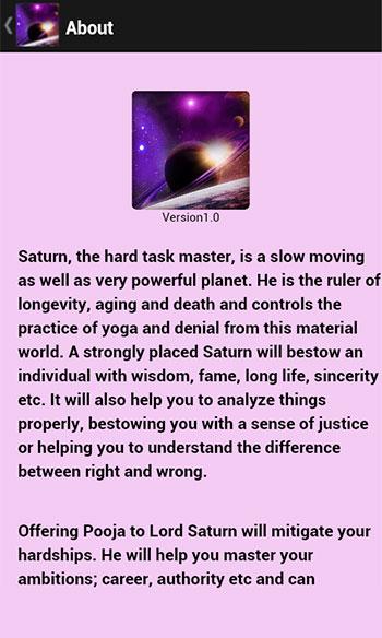 Saturn Pooja & Mantra
