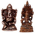 two 1-inch Metal Ganesha