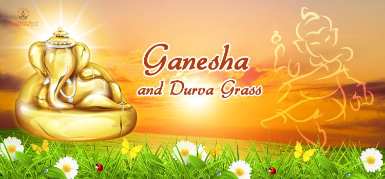 ganesha-and-durva-grass
