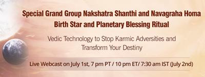 Special Grand Group Nakshatra Shanthi and Navagraha Homa