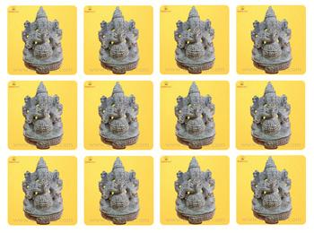 11 Ganesha Stone Statue