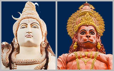 Shiva & Hanuman