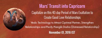 Mars Transit into Capricorn