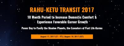 RAHU-KETU TRANSIT 2017