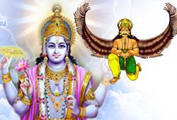Lord Vishnu and Garuda (Eagle)