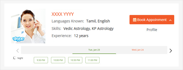 Select Astrologer, Date & Time