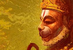 Archana (light and sound ceremony) to Hanuman