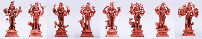 8 Forms of Kala Bhairava Statues Set