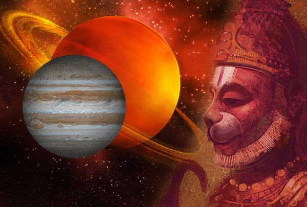 Hanuman Controls Rare Planetary Configuration