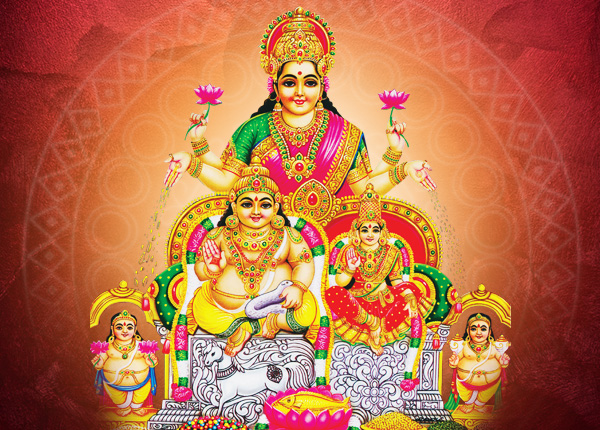 Blessings from Lakshmi and Kubera