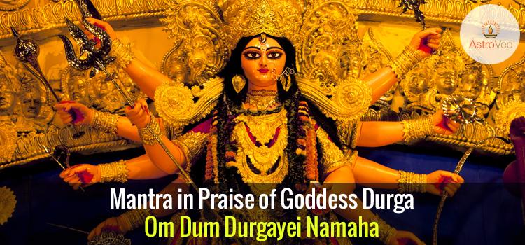 Mantra in Praise of Goddess Durga - Om Dum Durgayei Namaha