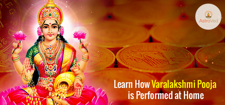 Learn How Varalakshmi Pooja is Performed at Home